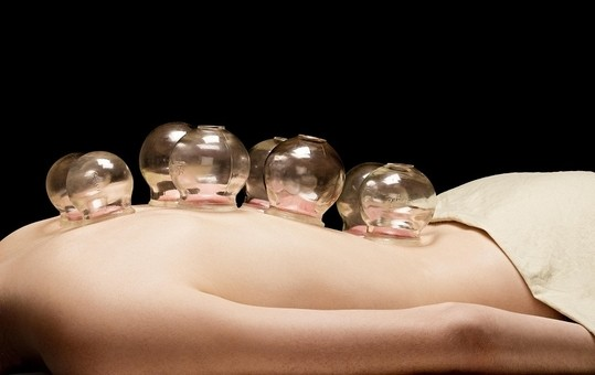Cupping with a gentle massage
